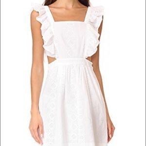 NWT Madewell White Apron eyelet cutout Dress 4